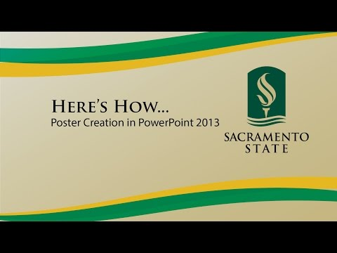 Đây là cách ... Tạo áp phích trong PowerPoint 2013