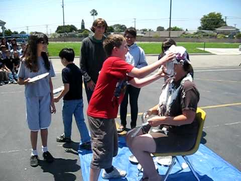 Bethany Christian Academy - Tami getting Pied