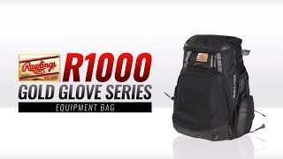 Rawlings R1000 Backpack Gold Glove Backpack Gold Labels