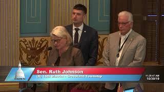 Sen. Johnson thanks the Senate for supporting military voting bills