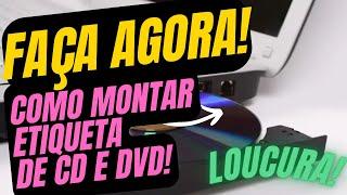 Montando sua etiqueta para Cd/Dvd - Tutorial
