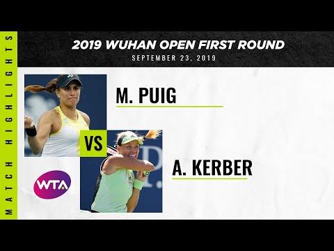 WTA Wuhan round 1 | Monica Puig vs. Angelique Kerber | Highlights