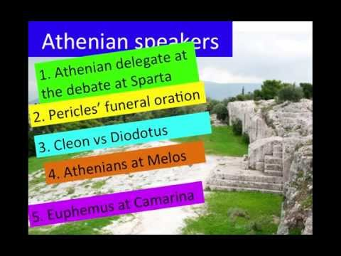 2F Athenian speeches in Thucydides