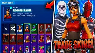 *NEW* FREE SKIN TRADING UPDATE IN FORTNITE! (Trade RARE Items!) - Fortnite: Battle Royale