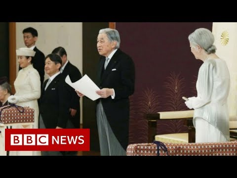 Japanese Emperor Akihito declares historic abdication - BBC News