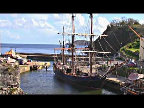 Charlestown Cornwall UK With Original Ambient Music (HD)