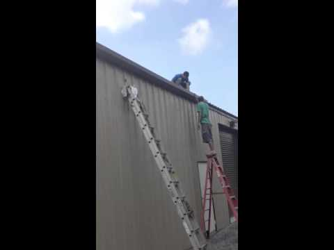 Installing Gutters On A Metal Building Youtube