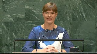 Estonia - President Addresses General Debate, 74th Session Kersti Kaljulaid, President of the Republic of Estonia, addresses the general debate of the 74th Session of the General Assembly of the UN (New York, 24 -- 30 ..., From YouTubeVideos