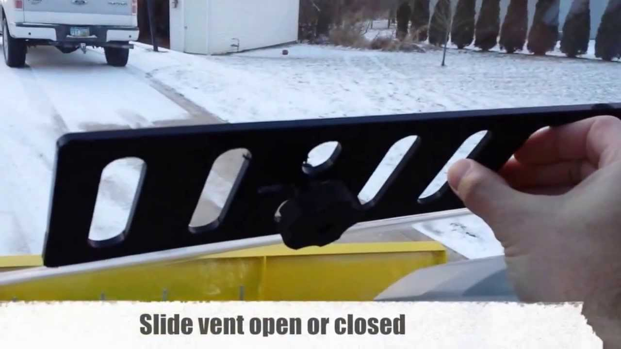 Yamaha Viking Vented Windshield Operation