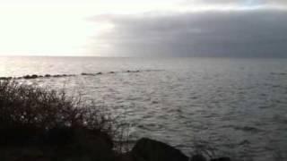 Morgenens bølge skvulp (beklager larmen fra vinden)