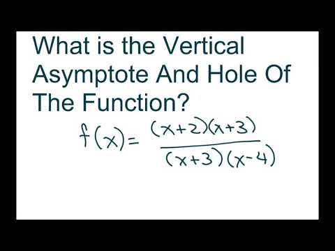 How To Find The Vertical Asymptote And Hole Of The Rational Function