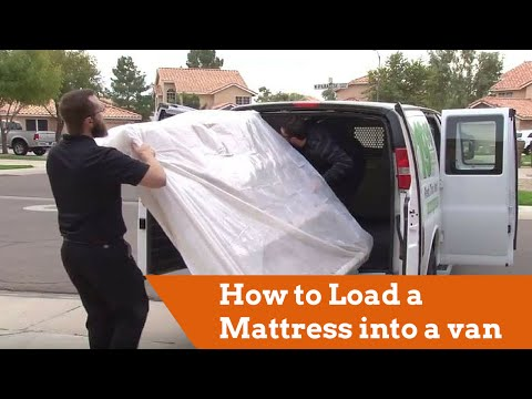 How To Load A Mattress Into A Cargo Van Yt
