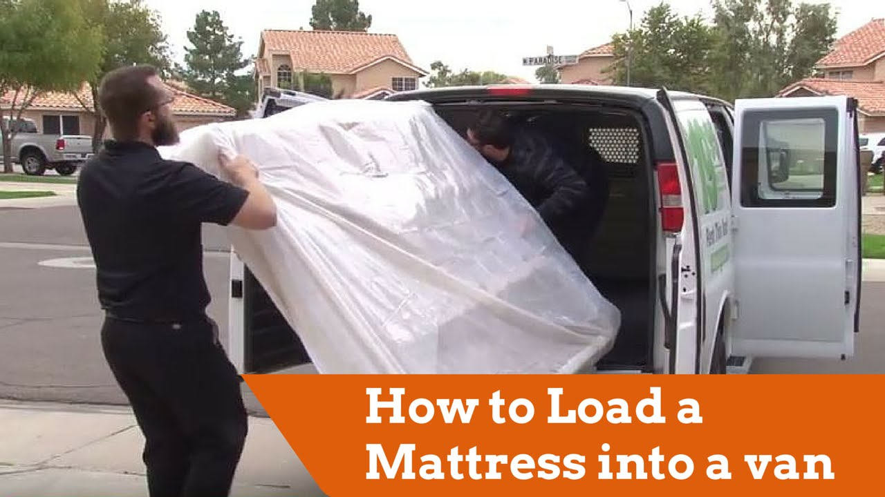 How To Load A Mattress Into A Cargo Van Youtube