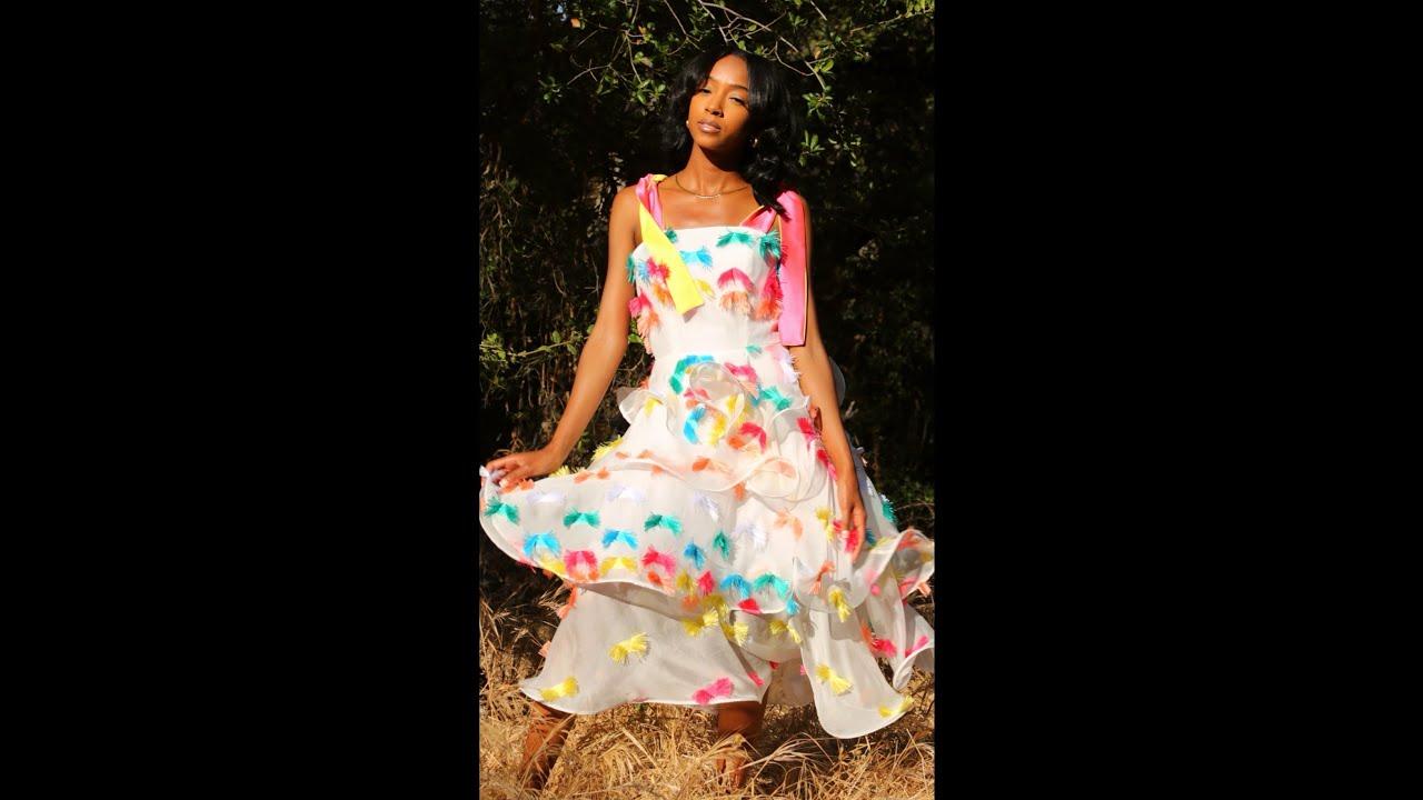 Making a Dress for a Summer Sunset #shorts