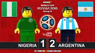 Nigeria vs Argentina 1-2 • World Cup 2018 (26/06/2018) All Goals Highlights Lego Football