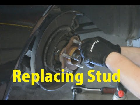 How To Replace Snapped Rear Wheel Stud YouTube