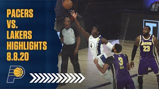 Indiana Pacers Highlights vs. Los Angeles Lakers | August 8, 2020 | T.J. Warren Drops 39 Points