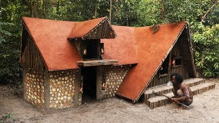 Build Ancient Viking Villa And Swimming Pool In Deep Forest