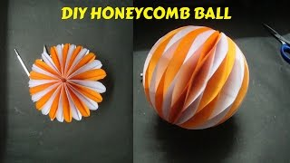 Honeycomb ball paper craft. How To Make Honeycomb Ball.