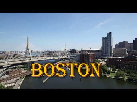 BOSTON MASS / HD AERIAL VIEW  FROM THE CHARLES RIVER TO BOSTON IN THE AIR/ DJI PHANTOM/ JOHNNY J FLA