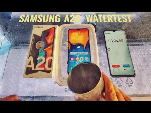 SAMSUNG A20 WATERTEST | HHM TECH WORLD