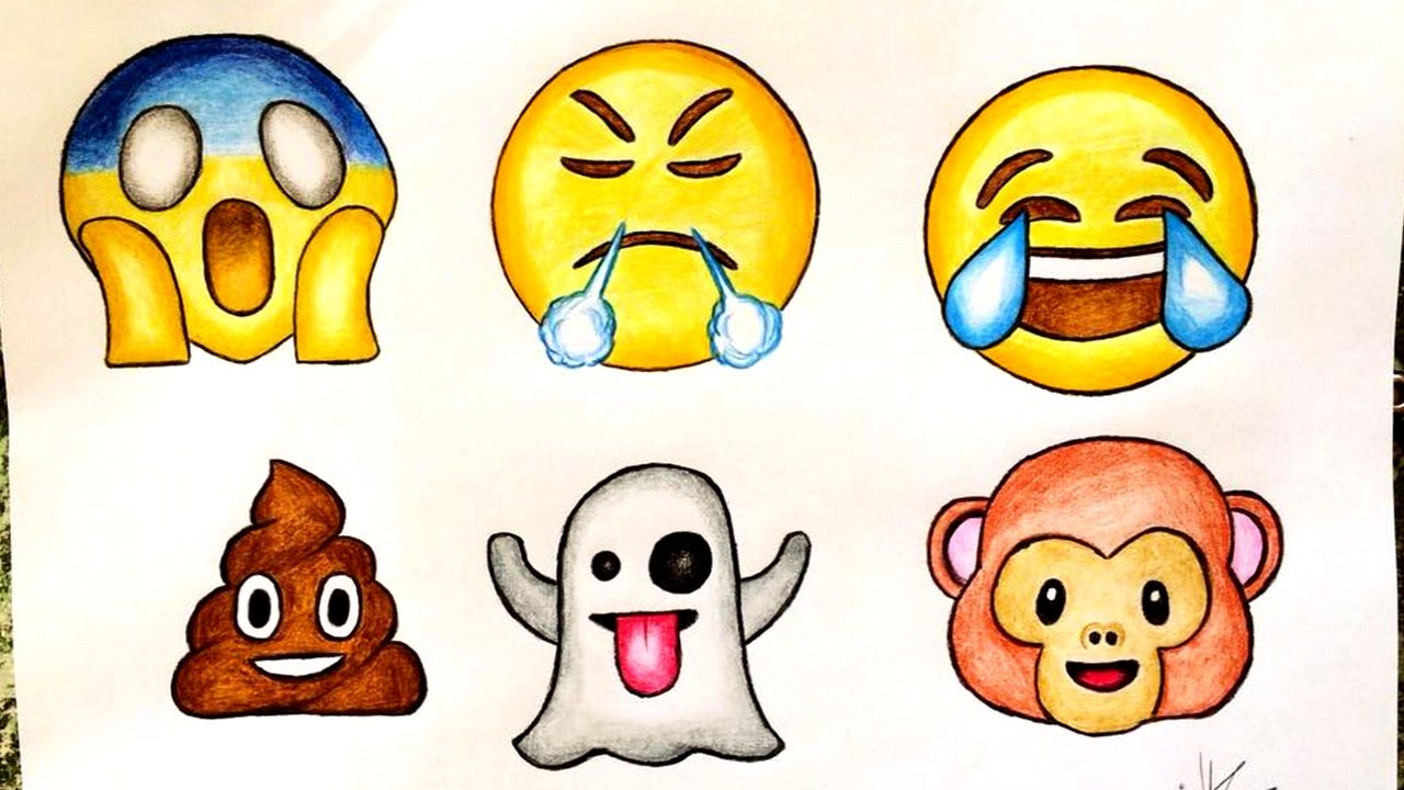 Drawings of emojis