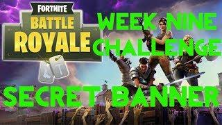 Fortnite Battle Royale | Season 5 Week 9 Challenge | Secret Banner Location Guide