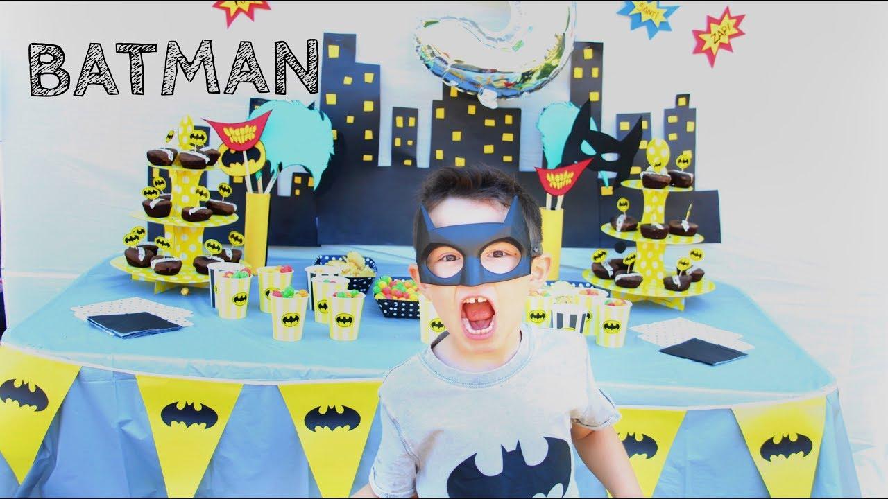Diy Cumpleanos Tematico Batman Facil Y Economico