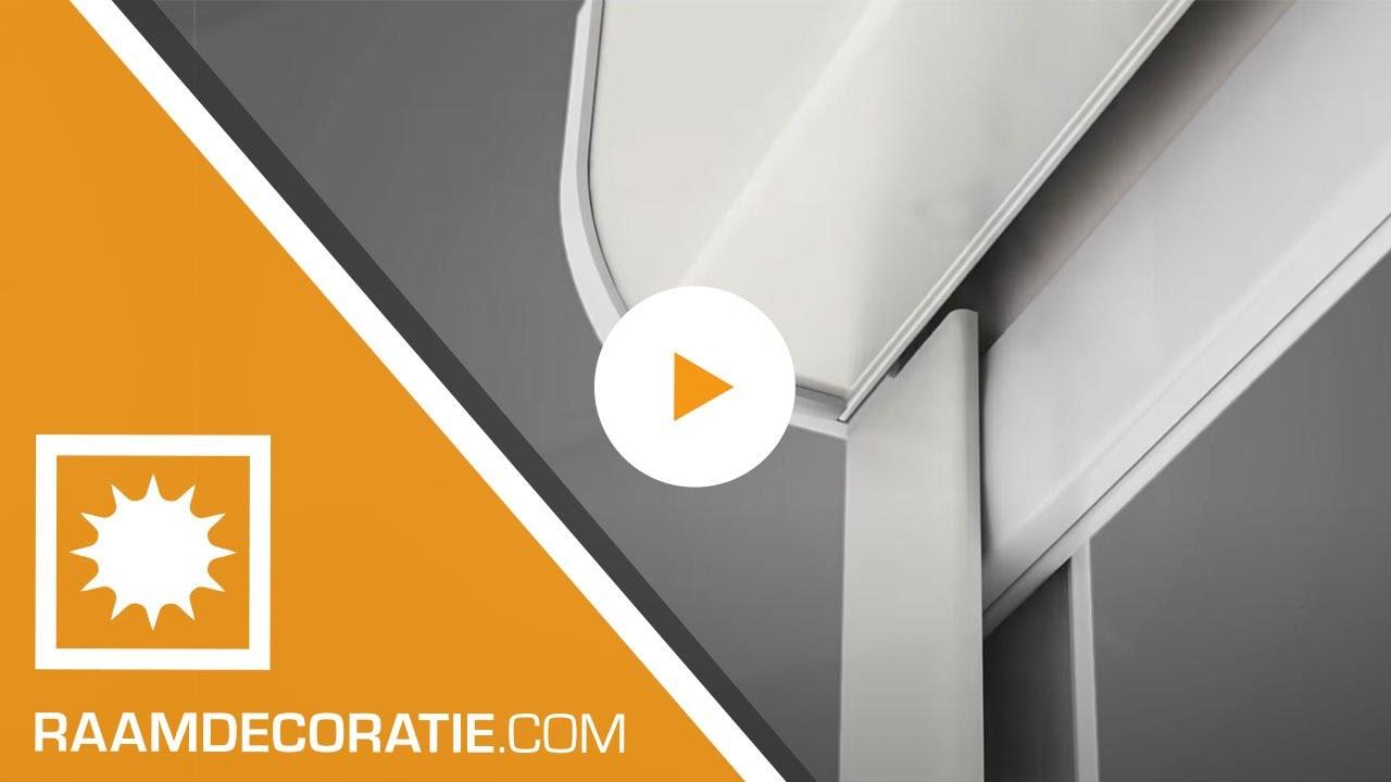 Montage video: cassette rolgordijn met zijprofielen zonder boren ...