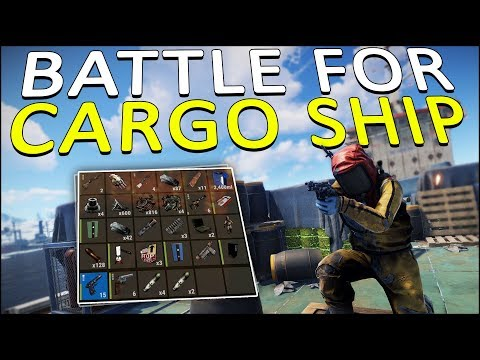 FIGHTING for the CARGO SHIP! - Rust Solo #4 thumbnail