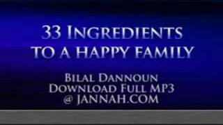 Bilal Dannoun - 33 Ingredients to a Happy Family