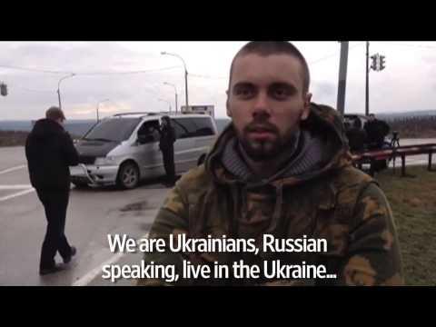 Local Man Explains Crimea Airport Blockade