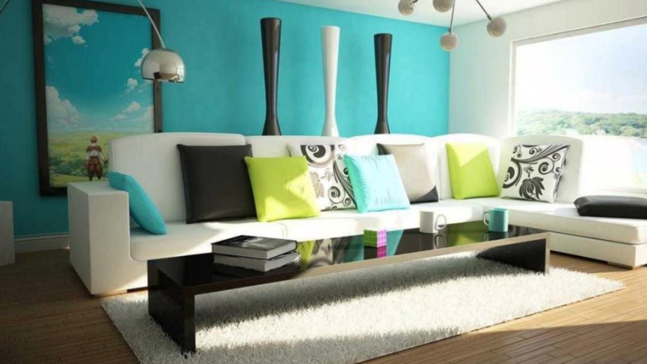 Desain Warna Ruang Tamu Minimalis Modern Keren