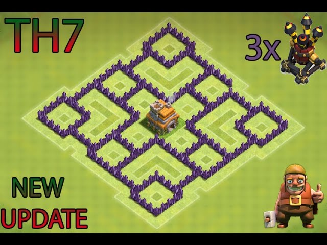 Clash Of Clans Th7 Farming Base Best Town Hall 7 Defense With 3x Air Defenses Youtube