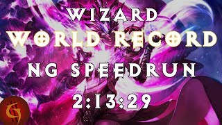 Diablo 3 Wizard Any% NG World Record Speedrun 2:13:29