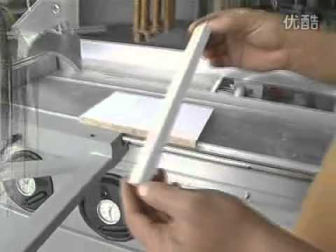 Operation and Installation of Precision Panel saw