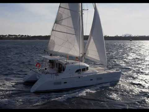 Charter catamaran Lagoon 380 6cabin in Greece.wmv
