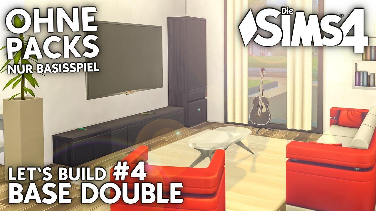 Die Sims 4 Doppelhaus bauen ohne Packs | Base Double #4: Wohnzimmer ...