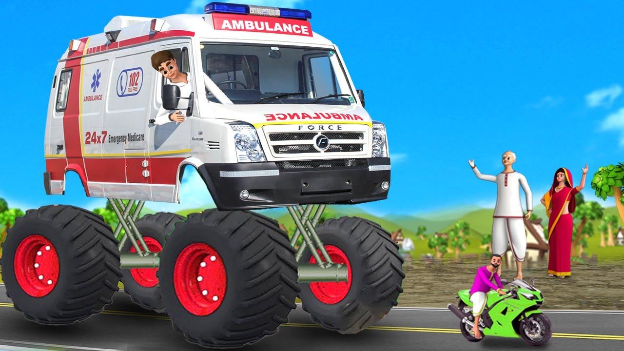 ராட்சத டயர்கள் ஆம்புலன்ஸ் - Big Wheels Ambulance 3D Animated Tamil Moral Stories | Maa Maa TV Tamil