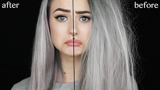 My Secret to Silky Straight Hair from Very Damaged Hair | Evelina Forsell