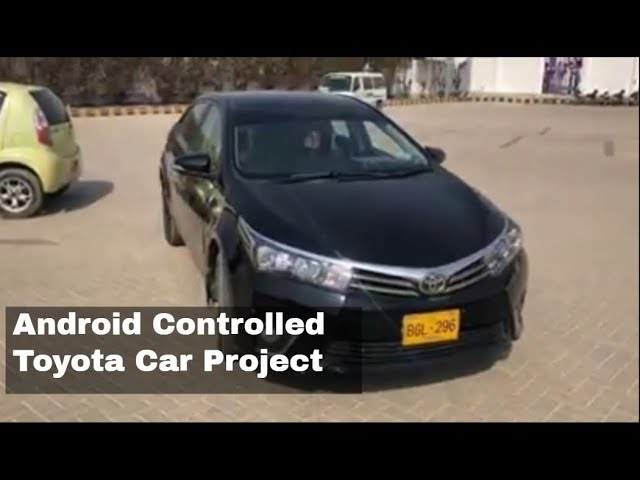 Toyota Self Drive Car | Student Project | Android controlled car | Startups