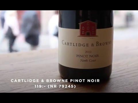 Cartlidge Browne Pinot Noir, Les Lauzeraies Tavel, Brundlmayer Gruner Veltliner provning