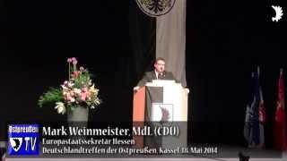 Europastaatssekretär Mark Weinmeister beim Deutschlandtreffen der Ostpreußen 2014 in Kassel