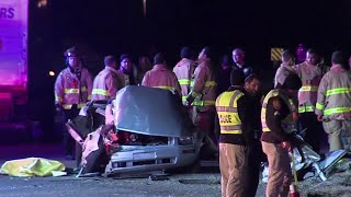 1 dead after moving truck T-bones car, police say