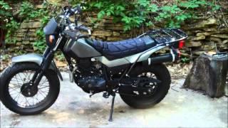 DIY motorcycle rack for less than 10 bucks.