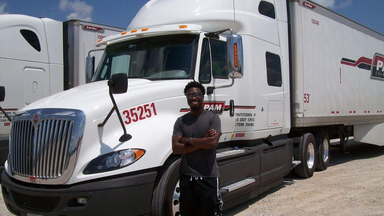 2016 international truck tour with pam transport driver trainer
