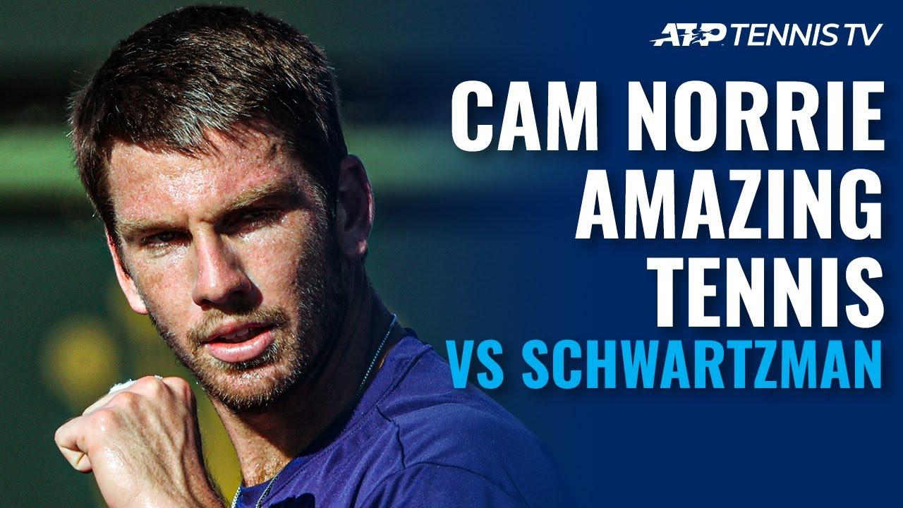 Cameron Norrie Amazing Tennis vs Schwartzman | Indian Wells 2021 Highlights