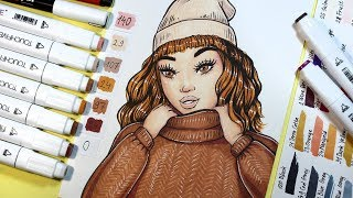 How to Draw Sweater Texture【 Touch Five Markers Tutorial 】