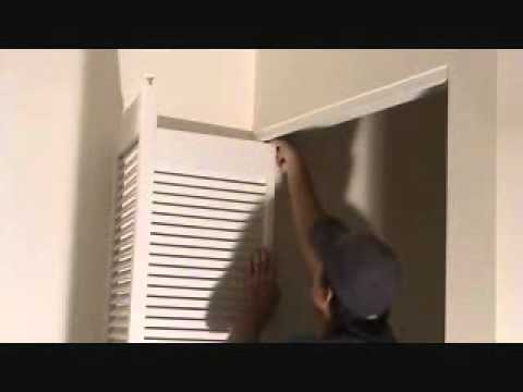 How To Remove A Bi Fold Door Unit Youtube
