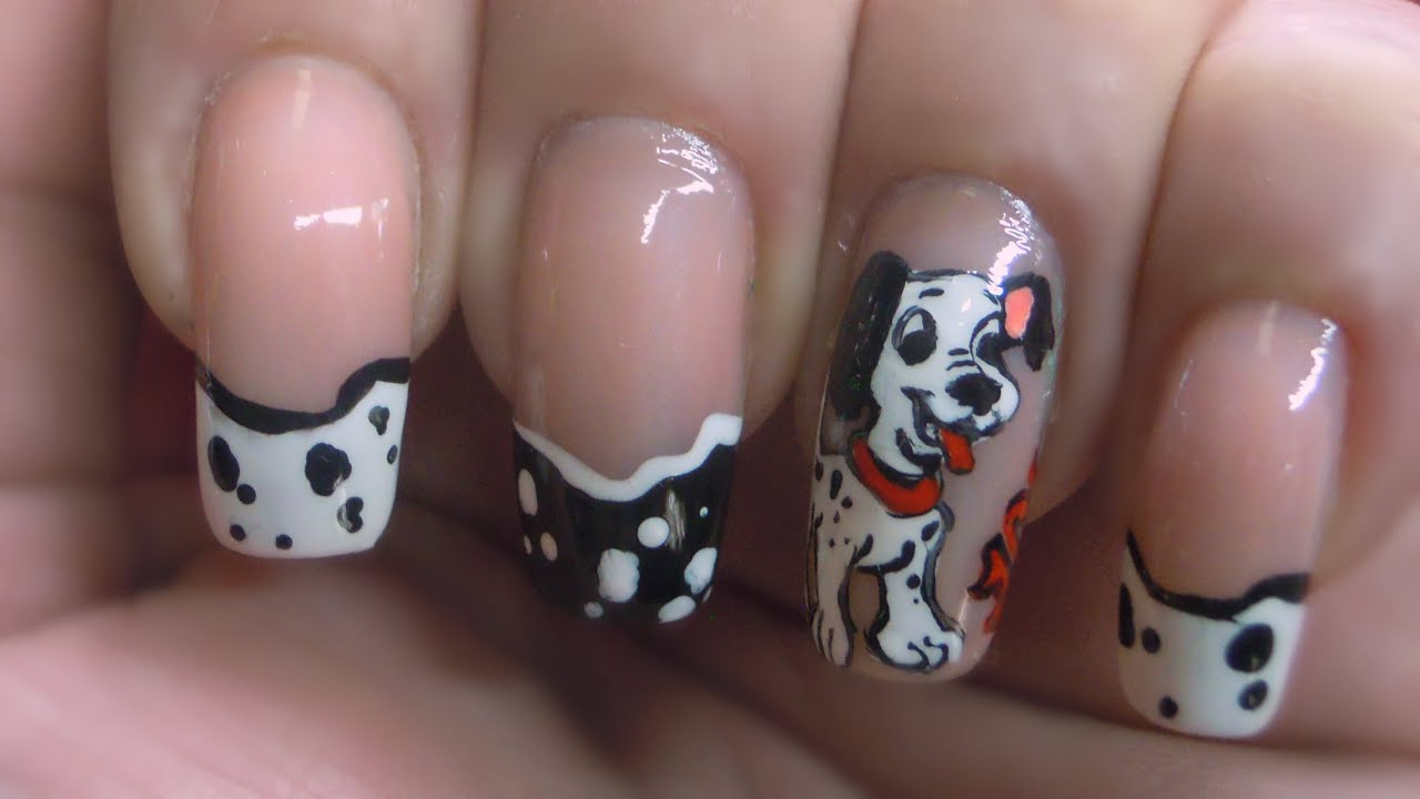 101 dalmatians nailart - YouTube